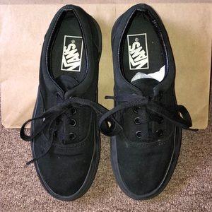 All black Authentic style Vans